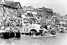 Ford Transit in raft race