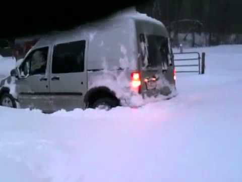 Ford Transit in snow