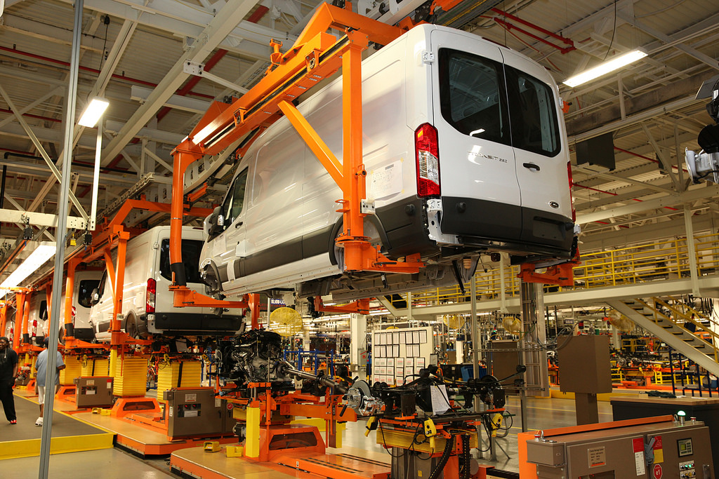 Ford Transit in Ford's production plant