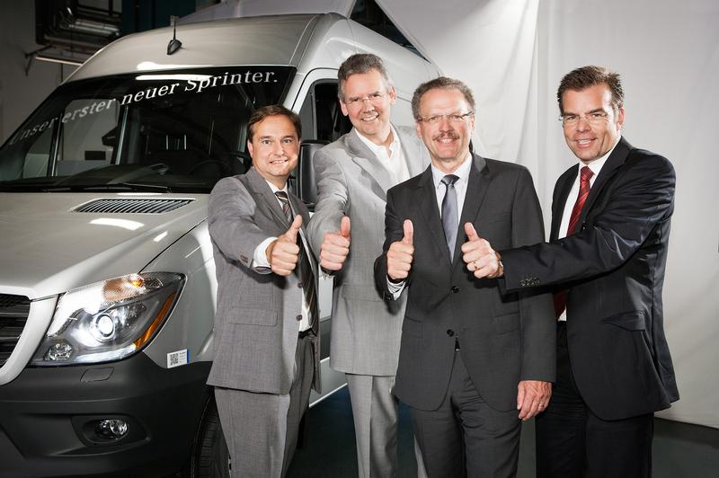 Mercedes Sprinter with officials