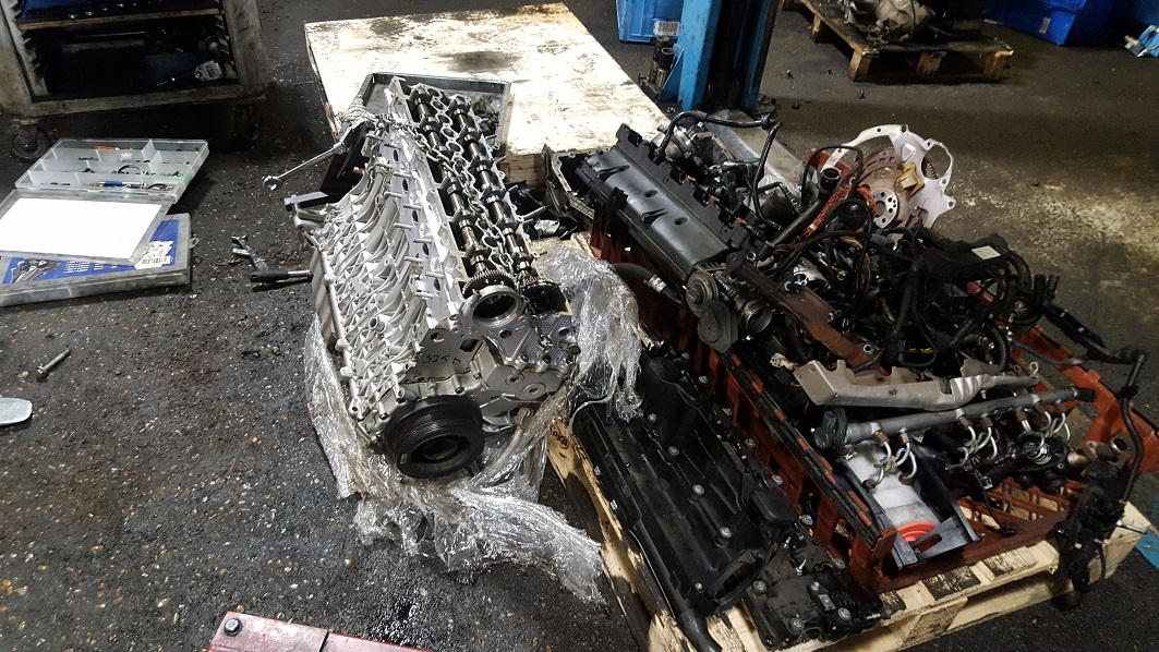 Rebuilt BMW 525D engine